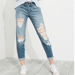 Hollister Low Rise Boyfriend Distressed Jeans 1